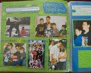 memories scrapbook commemorating a loved one