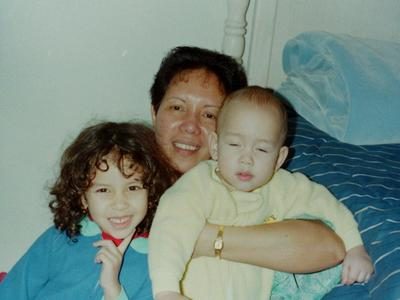 With my chilfren Lisa & John