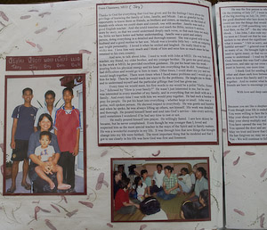 commemorating a loved one, memories scrapbook
